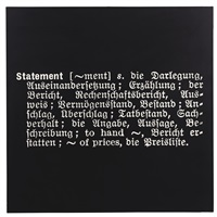 titled (art as idea as idea) [statement] by joseph kosuth